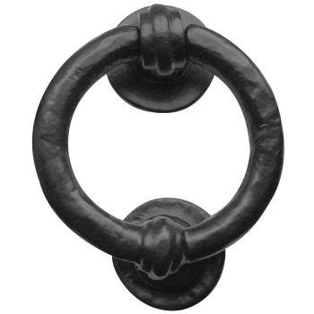 Ring Shaped Door Knocker 95mm - Black Antique
