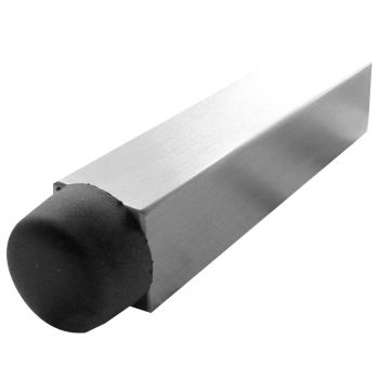 Square Projecting Door Stop - Polished Stainless Steel