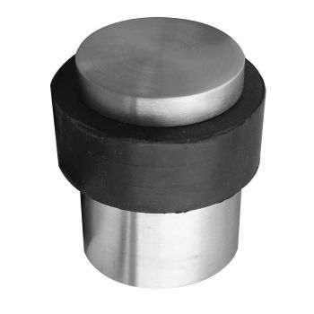 Cylinder Floor Door Stop - Polished Stainless Steel