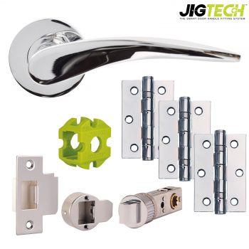 Jigtech Vecta Door Pack - Passage - Polished Chrome