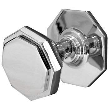 Centre Door Knob 70mm - Polished Chrome