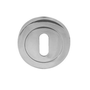 Jedo Keyhole Cover Escutcheon - Standard Profile - Polished Chrome