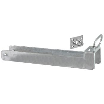 156/L Lockable Throw Over Gate Loop with Lifting Handle 450mm x 75mm - Galvanised