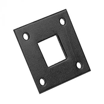484 Plate for Square Bolts 16mm / 5/8inch - Epoxy Black