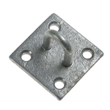 512 Staple on Plate 50 x 50mm / 2inch x 2inch - Galvanised