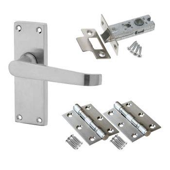 Victorian Straight Door Handle Set - Latch Door Pack