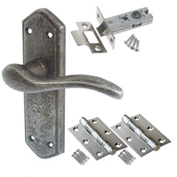 Wentworth Door Handle Set - Latch Door Pack - Pewter