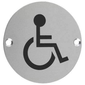 Disabled Facilities Symbol - 76mm Signage
