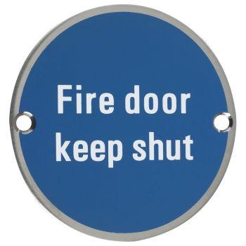 Fire Door Keep Shut Symbol - 76mm Signage