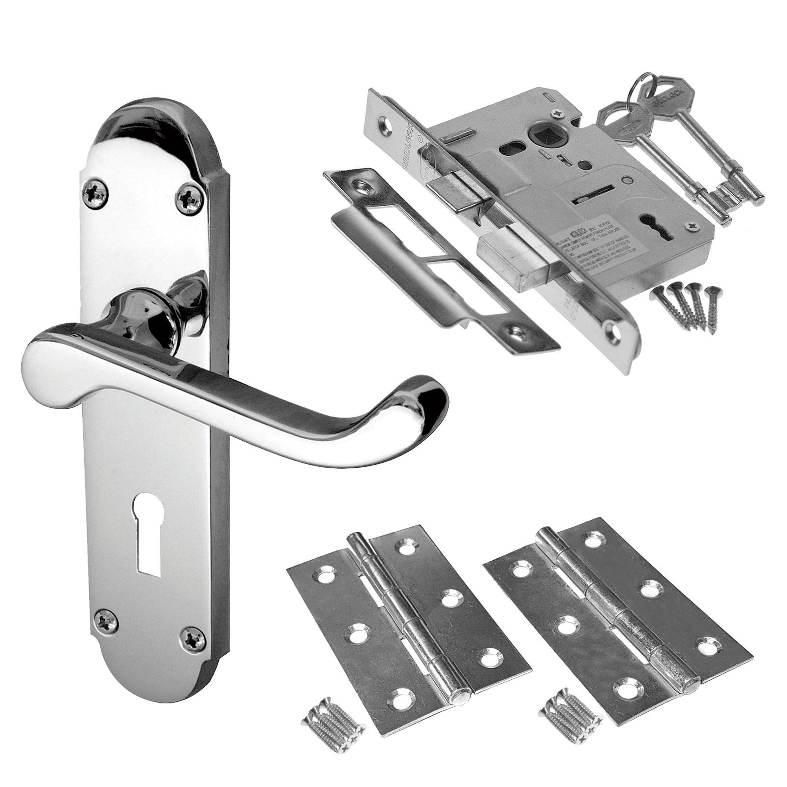 Picture of: Epsom Internal Door Handle Packs Latch Lock And Bathroom Door Handles Packs Ebay