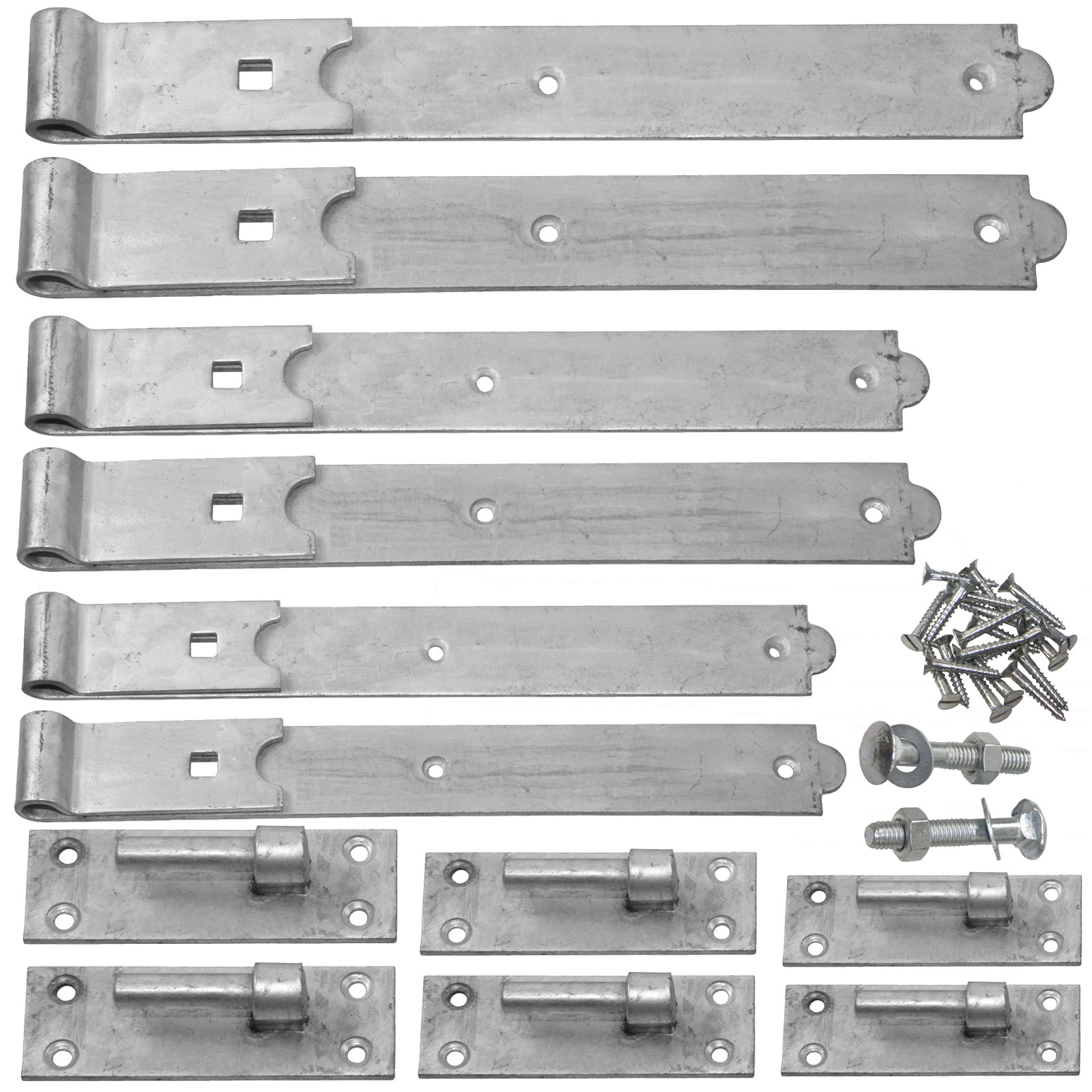 12inch Pair of Hook and Band Gate Hinge Galvanised