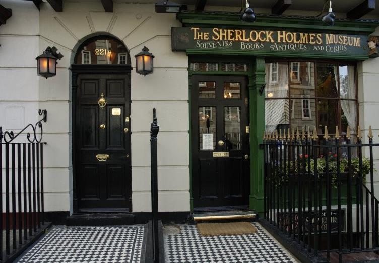 221b Baker Street, Sherlock Holmes, front door