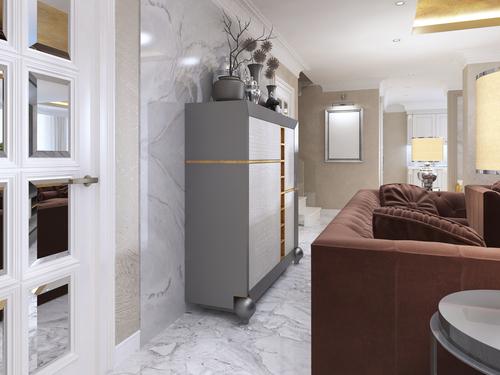 door handle in modern living room