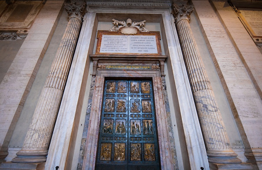 The door of St Peters Basilica