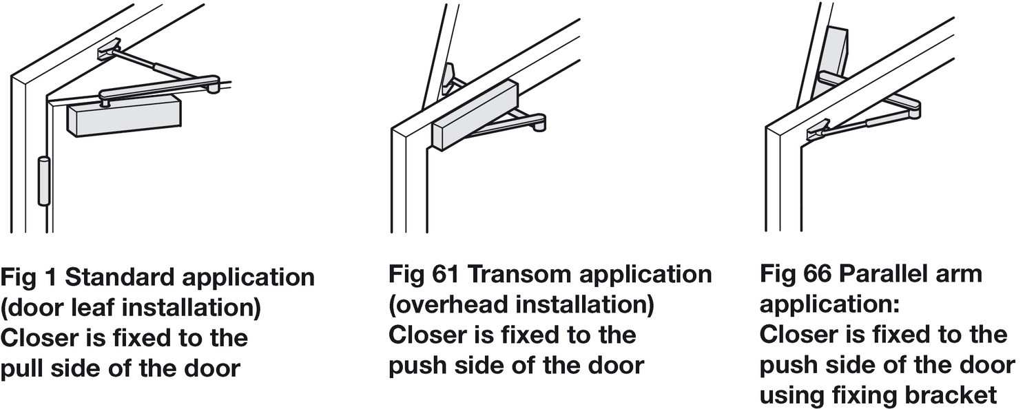 Mounting Options for Door Closers