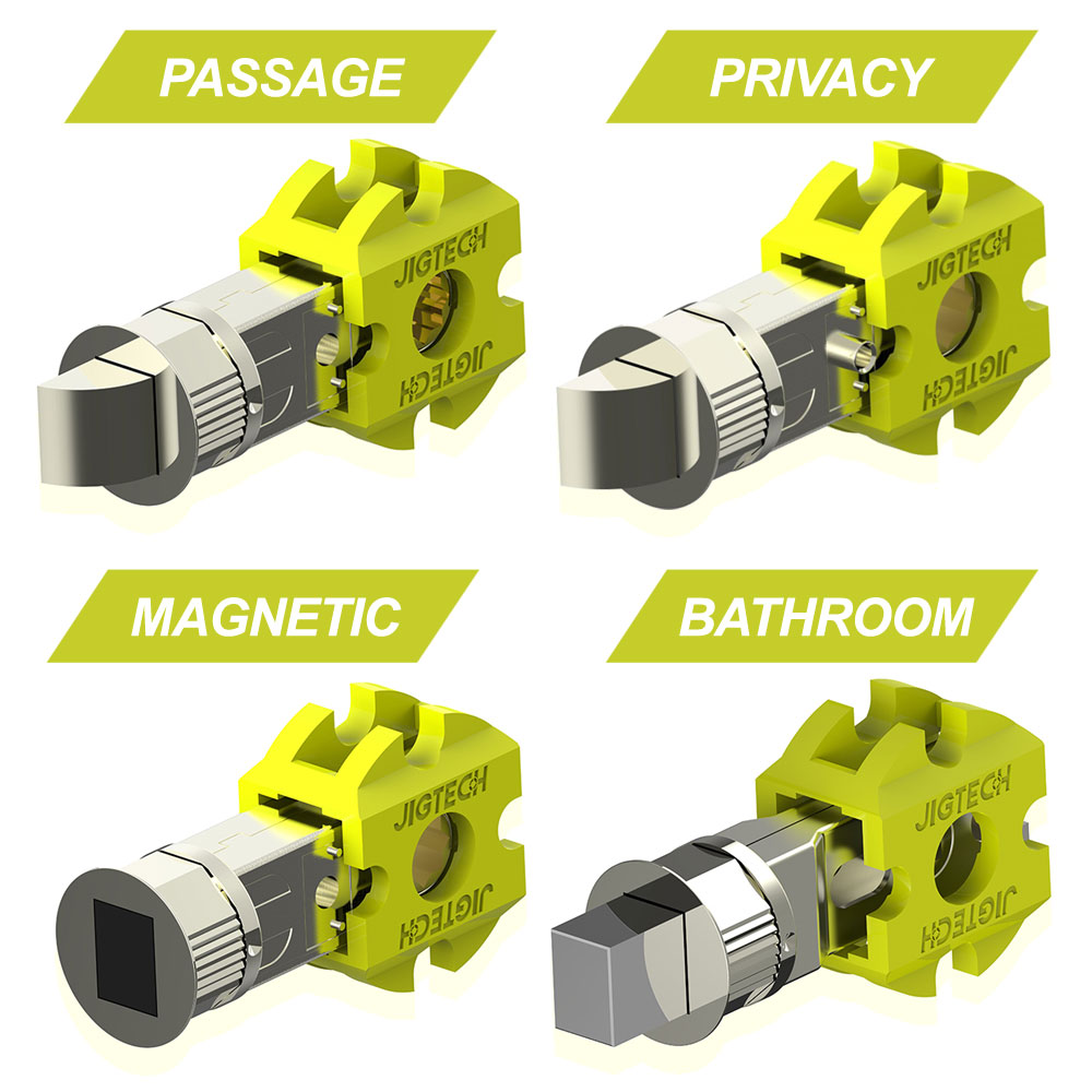 Jigtech Smart Tubular Latches Passage Latch Privacy Latch Magnetic Latch and Bathroom Bolt